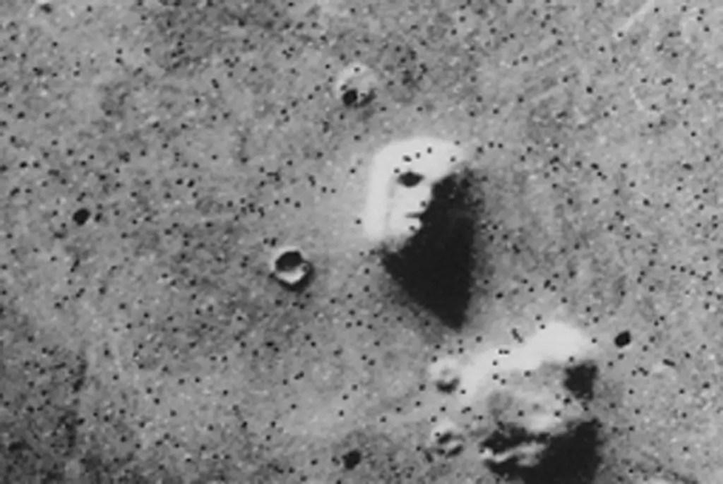 Pareidolia cara de Marte.