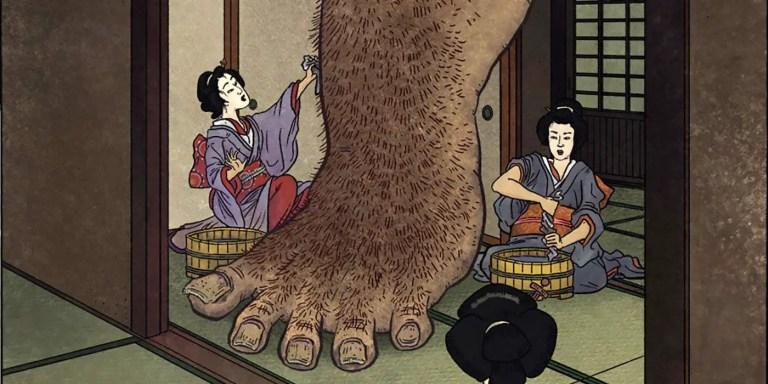 Ashiarai Yashiki, y los monstruos yokai más llamativos del folclore japonés