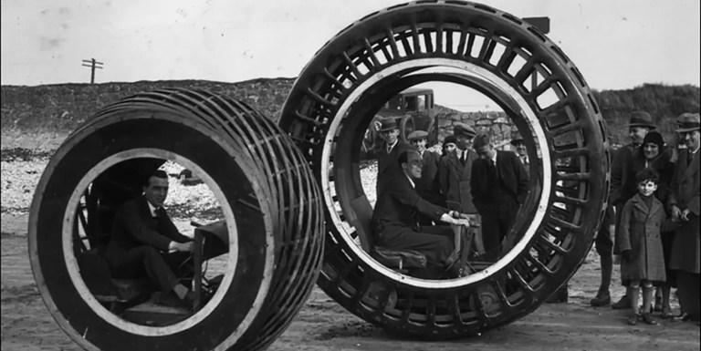 La dinaesfera, y otros vehículos monorueda gigantes
