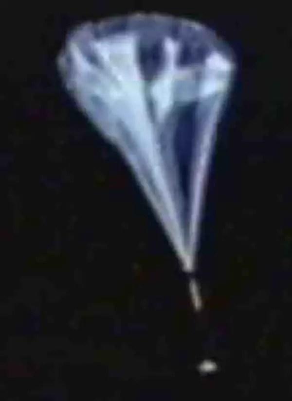 Fotografía del globo de Joseph Kittinger.