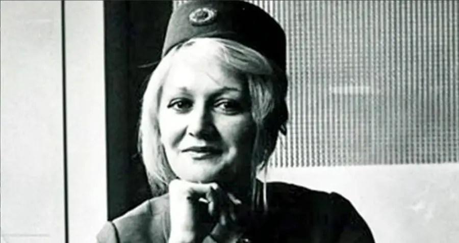 Retrato de Vesna Vulović.
