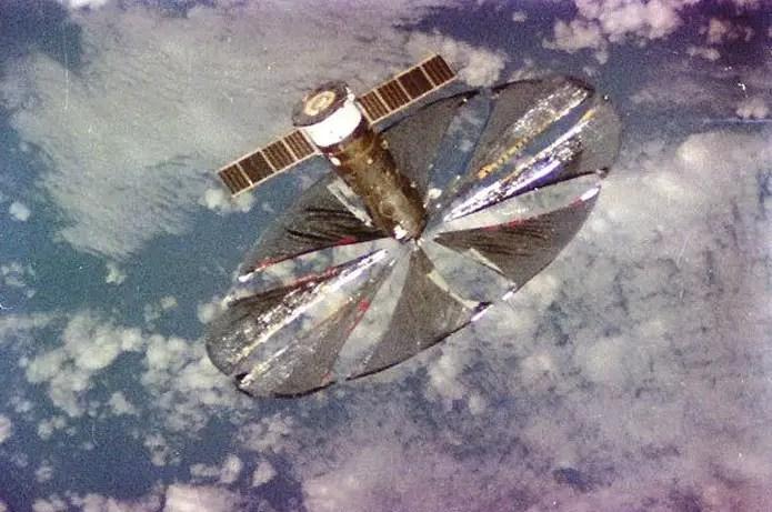 Fotografía de la sonda Znamya 2.