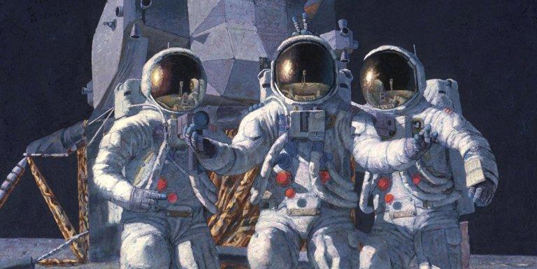 El arte espacial del astronauta de las misiones Apolo Alan Bean