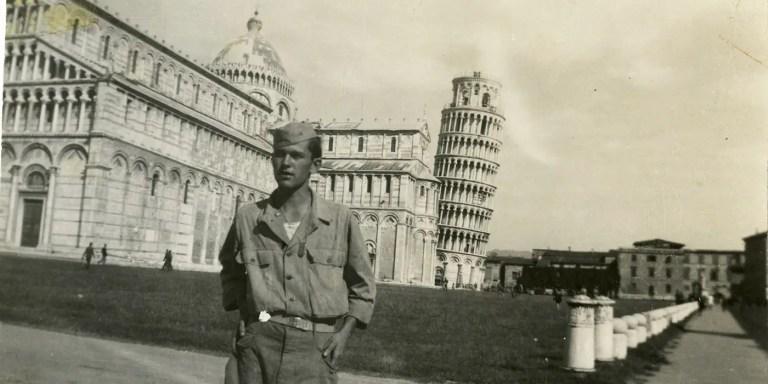 El hombre que salvó la torre de Pisa de las bombas en la Segunda guerra