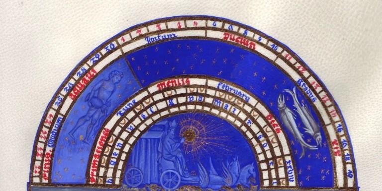 Calendario de febrero del libro Tres Riches Heures.
