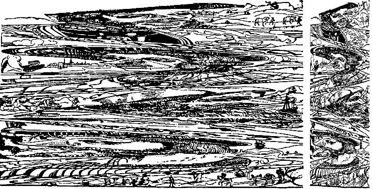 Ilustración oculta de Erhard Schön en la cual vemos a tres monarcas de su época.