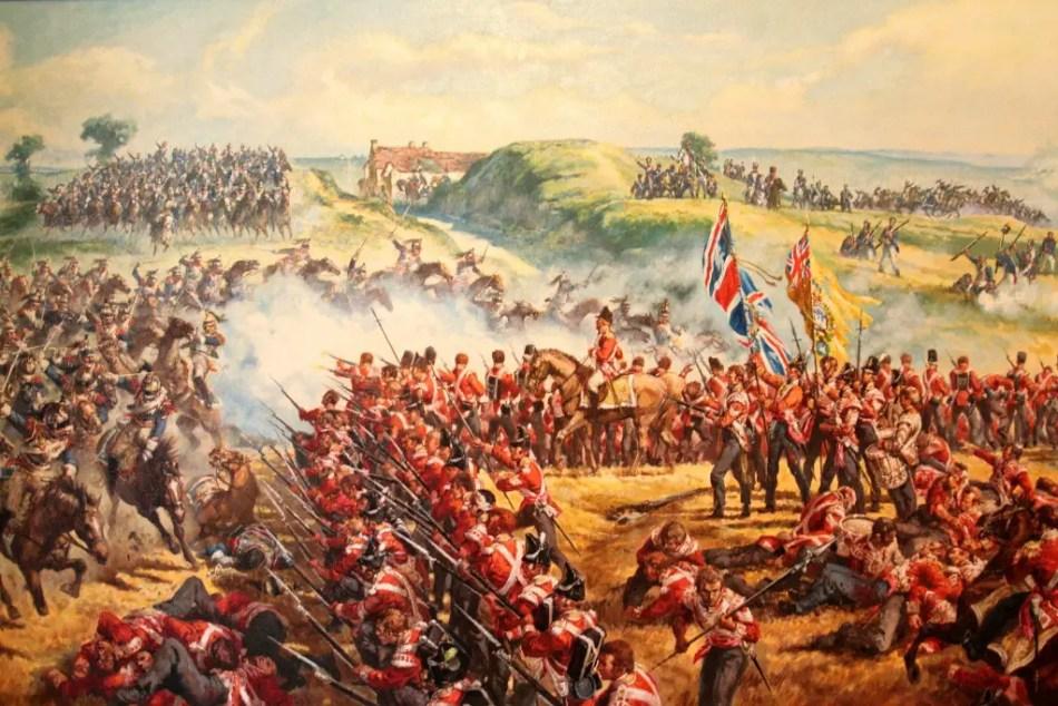 Pintura de la Batalla de Waterloo.