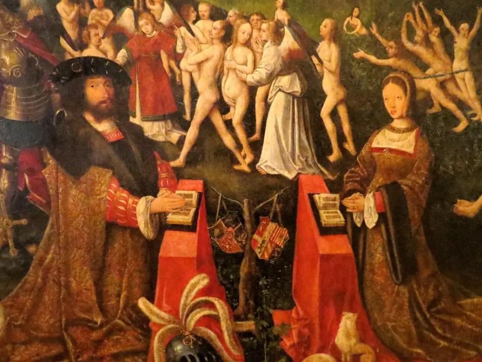 Pintura del rey Christian II y la reina Elizabeth.