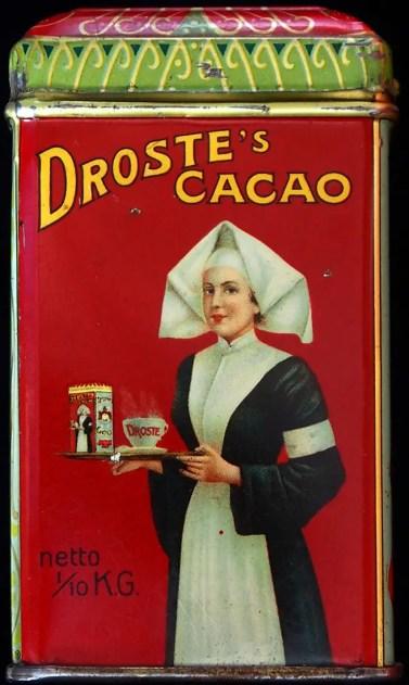 Lata de cacao Droste.