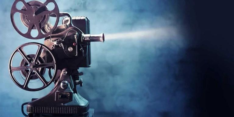 Proyector de cine antiguo.