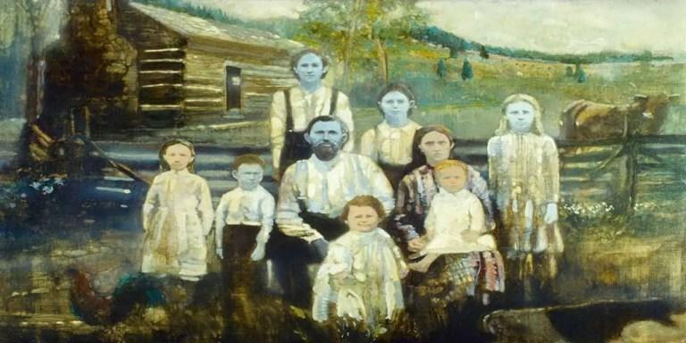 Pintura familiar de la familia Fulgate.