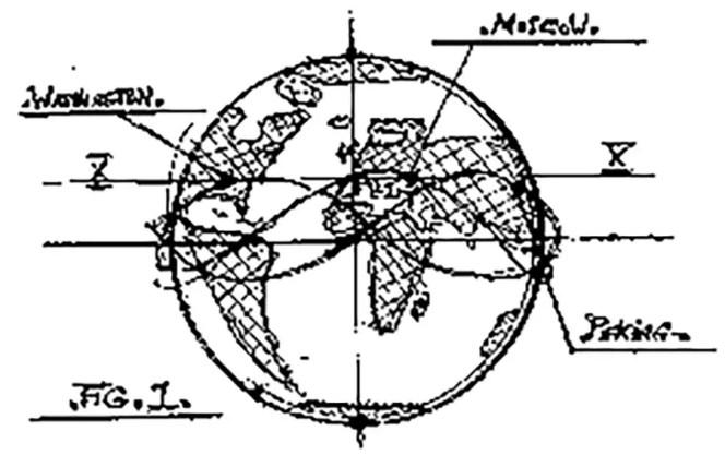 Ilustración de un patente mostrando mostrando un sistema misilítico terrestre.