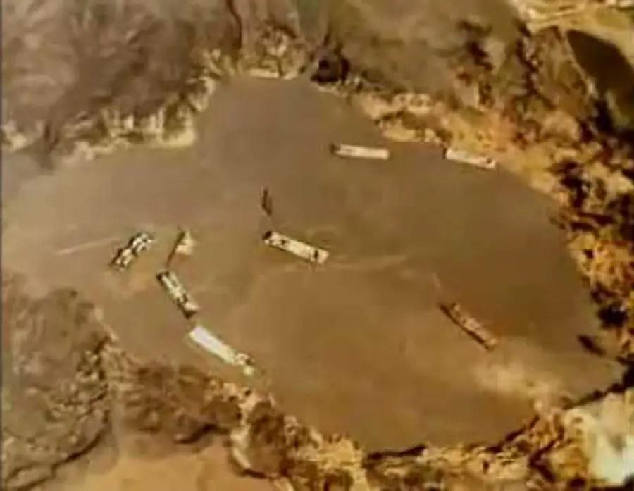 Vista aérea del desastre del lago Peigneur,