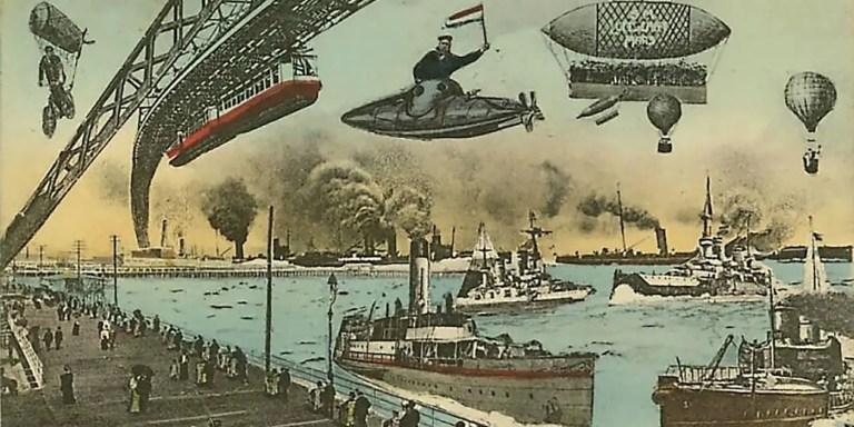 Las postales del siglo XIX que imaginaban cómo sería el mundo del futuro
