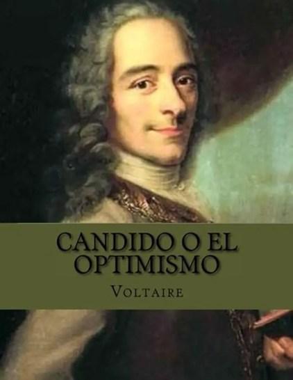 Portada del libro de Voltaire Candido o el Optimismo.