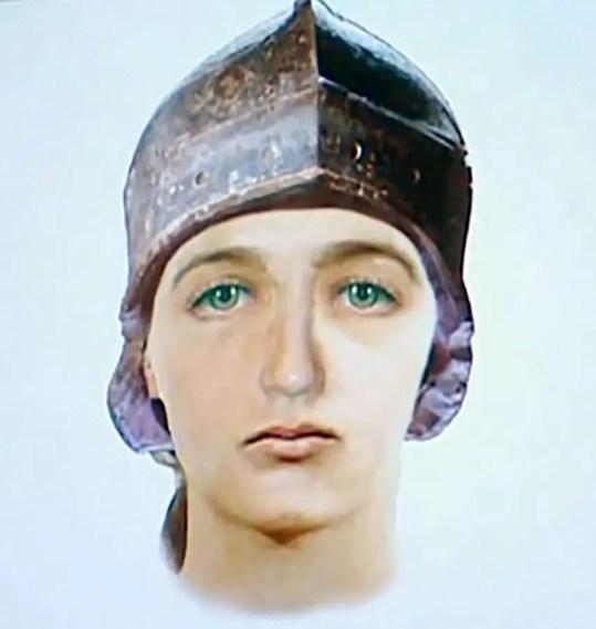 Ilustración que refleja el rostro de Claude, la falsa Juana de Arco.