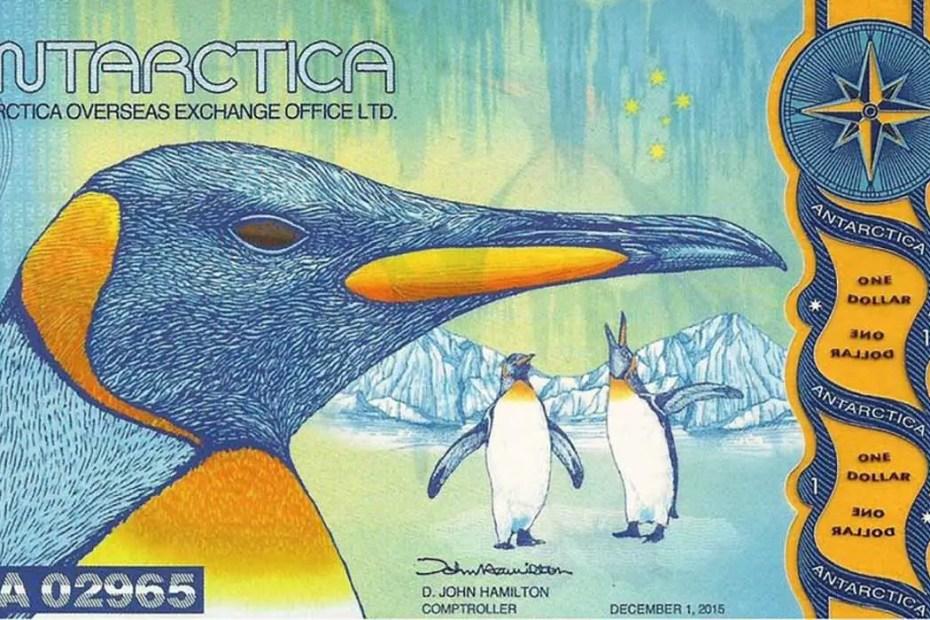 Ejemplo de los dólares antárticos.