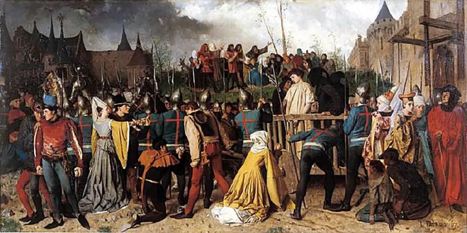 Pintura que conmemora el final de la Guerra de los Cien Años.