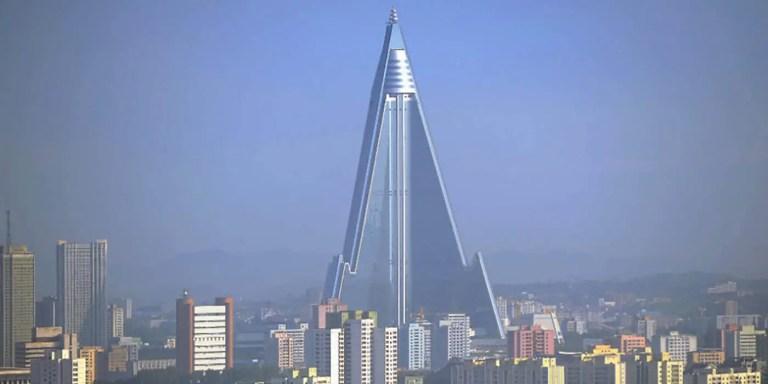Hotel pirámide de Corea del Norte.
