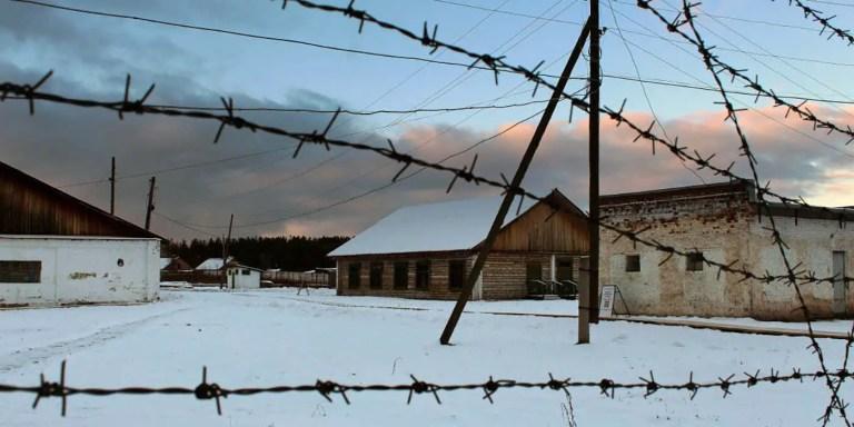 Interior de un gulag visto desde el exterior.