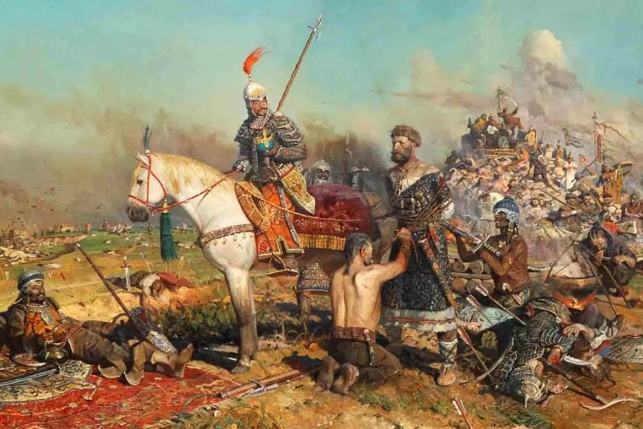 Pintura de los kanes mongoles.