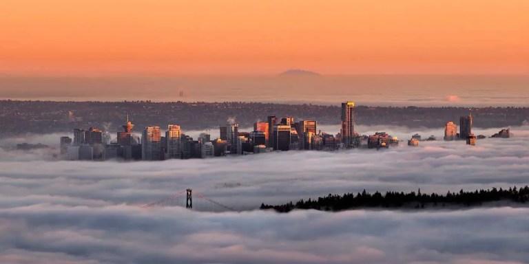 Vancouver, la ciudad con la niebla más intensa del mundo