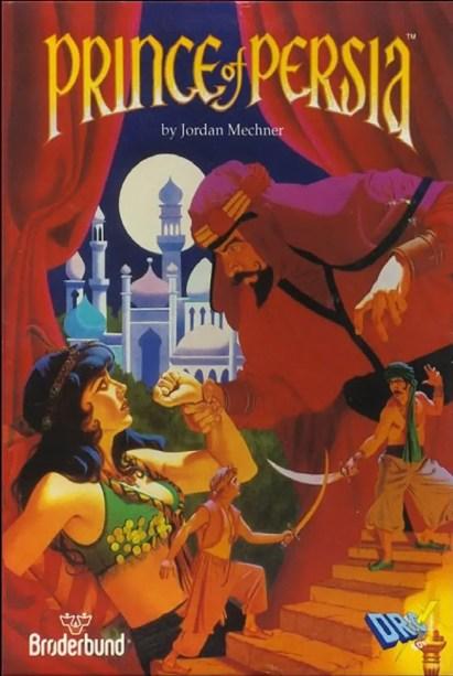 Arte de tapa original de la versión de 1989 del Príncipe de Persia.