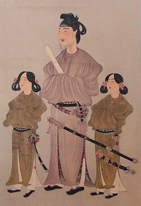 Ilustración del príncipe Shotoku y sus hijos, los mismos estuvieron presentes cuando se fundó la empresa más antigua del mundo.