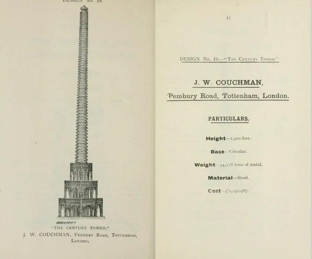 Torre candidata a ser la Torre Eiffel londinense.