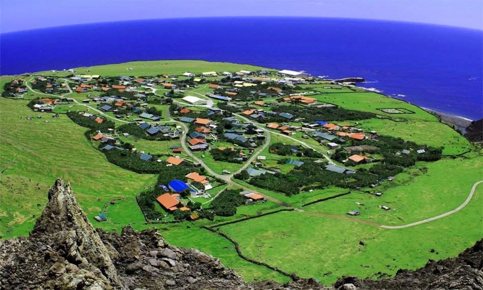 Vistas aérea del poblado más remoto del mundo.