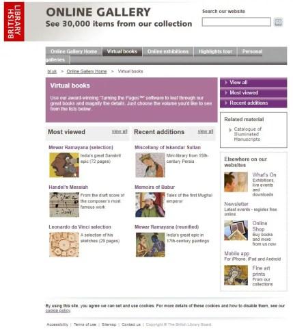 Portada del proyecto de libros gratis de la Biblioteca Británica.