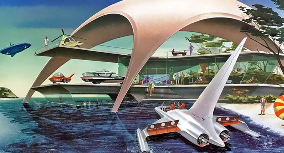 Ilustración de las vacaciones del futuro.