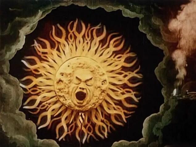 El sol animado de la película.