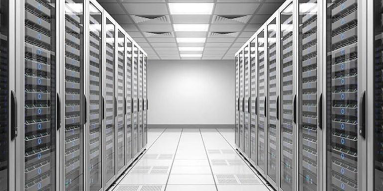 Fotografía de un centro de datos.