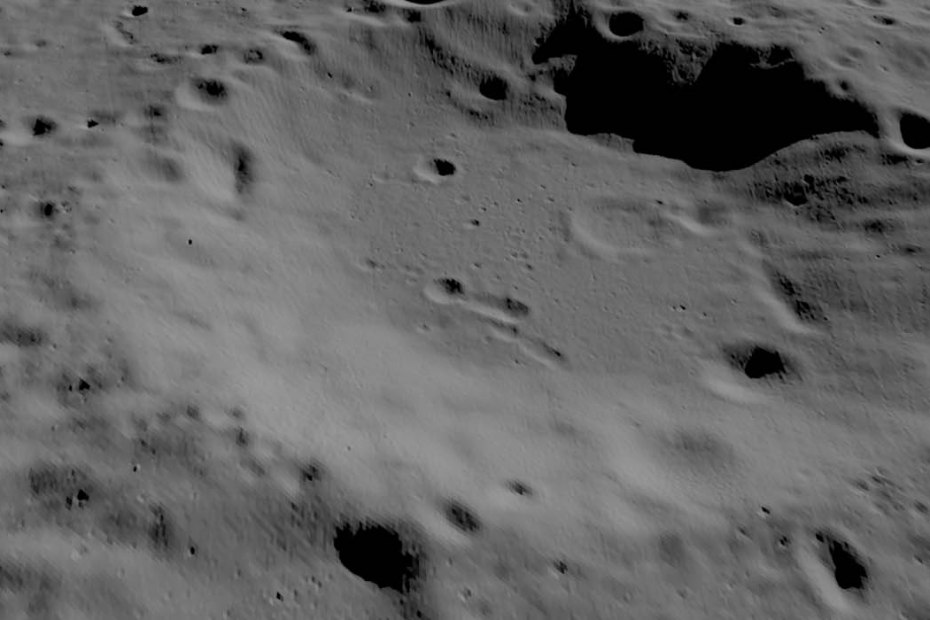 Imagen de un cráter lunar.