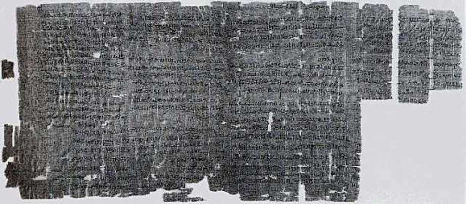 Imagen de un manuscrito detallando la primer huelga de la historia.