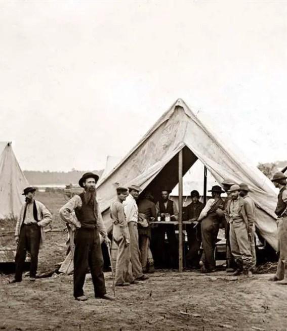 Carpa médica de los médicos de la Guerra Civil Americana.