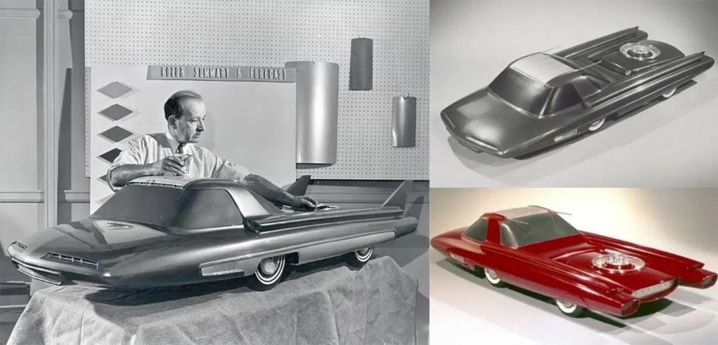 El prototipo a escala del Ford Nucleon.