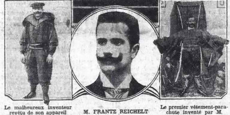 Paracaidistas pioneros, los primeros paracaidistas y Franz Reichelt