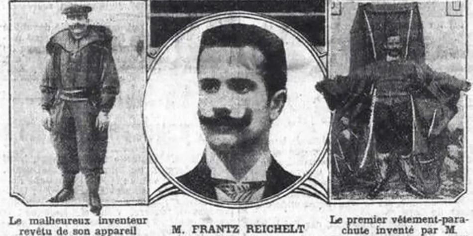 Franz Reichelt, el paracaidista pionero.