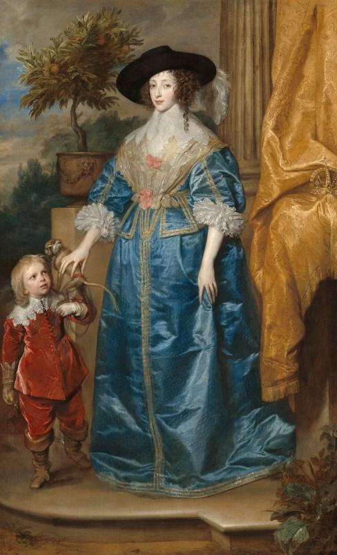 Retrato de Lord Minimus a Enriqueta María de Francia.