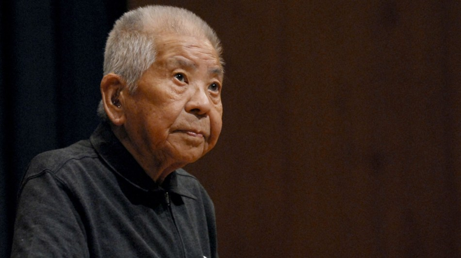 Tsutomu Yamaguchi ya anciano en el siglo XXI.