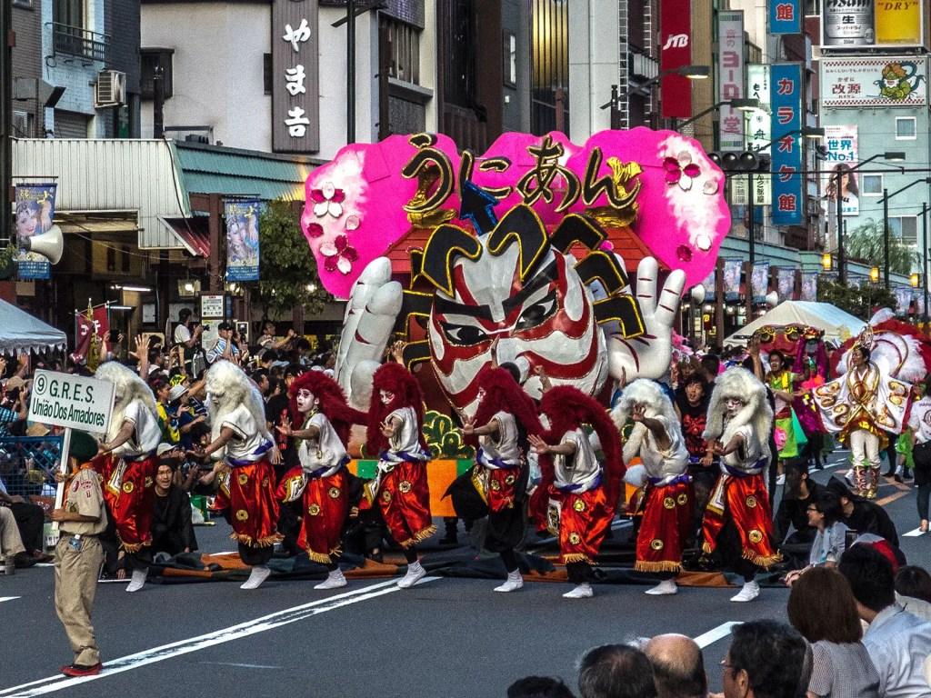 Carroza del carnaval carioca japonés.