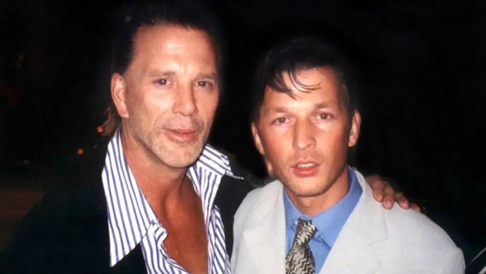 Christopher Rocancourt junto a Mickey Rourke.