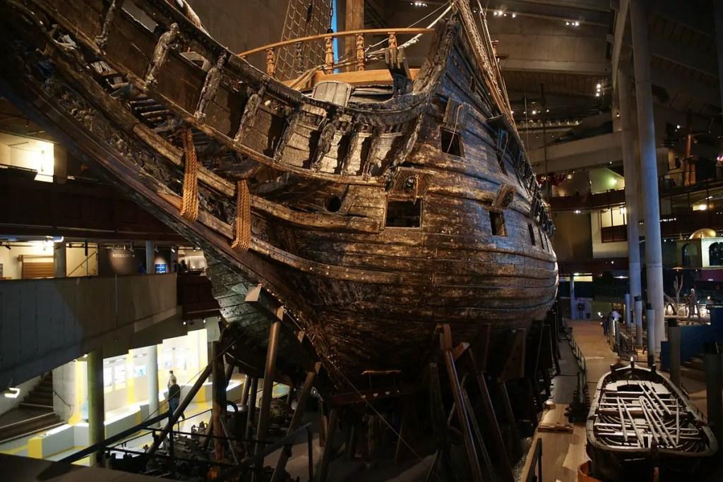 Detalle de la proa de la Vasa.