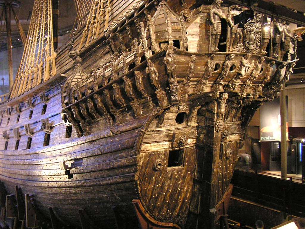 Detalle de la popa de la Vasa.