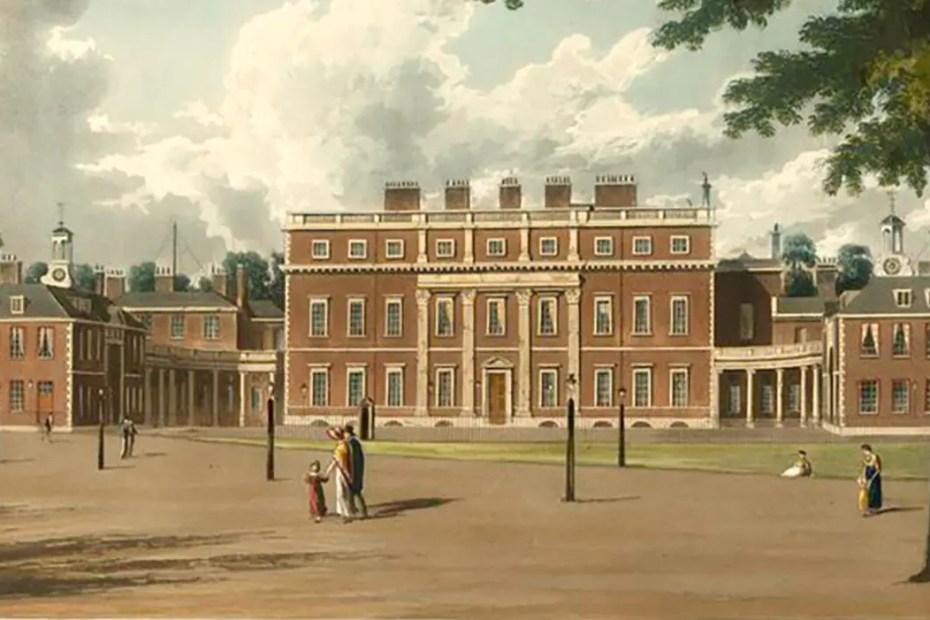 Esterior de la Casa Buckingham, arquitectura ilustrada.
