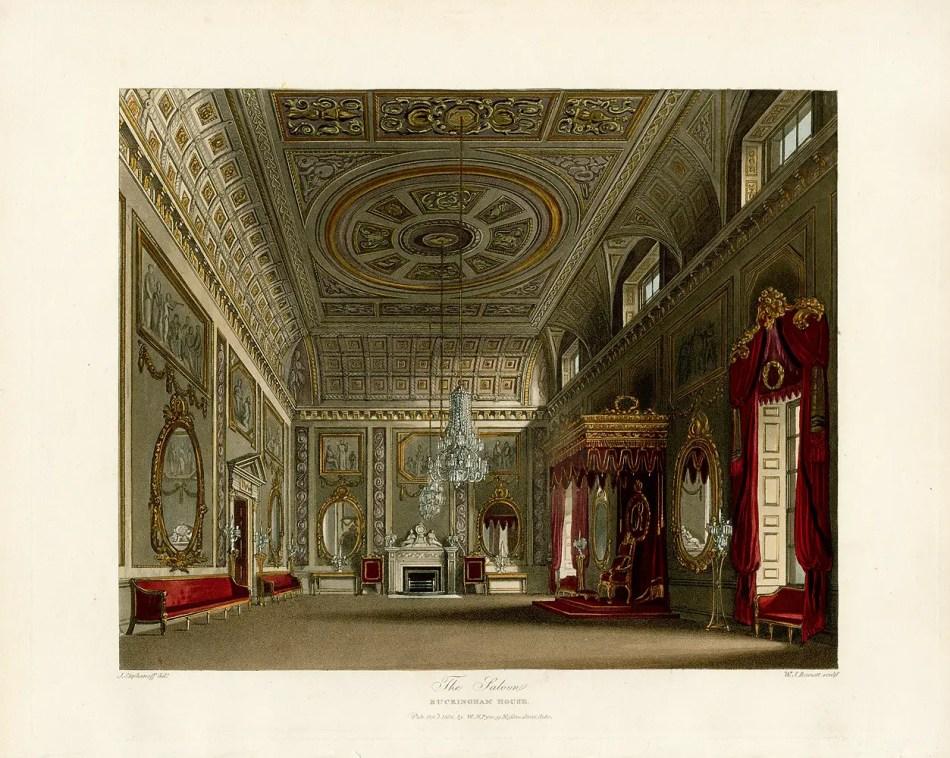 Uno de los varios salones del Palacio de Buckingham.