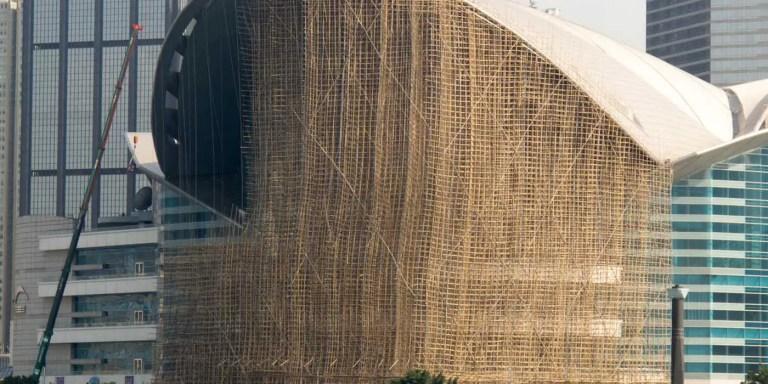 Los andamiajes hongkonéses de bambú  de 15 pisos de altura