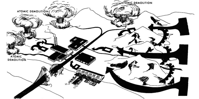 Las minas nucleares de la Guerra Fría, el proyecto Blue-Peacock
